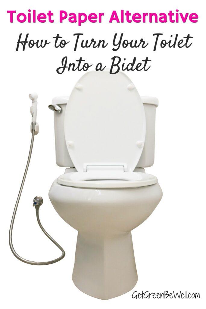 white toilet bowl with bidet attachment