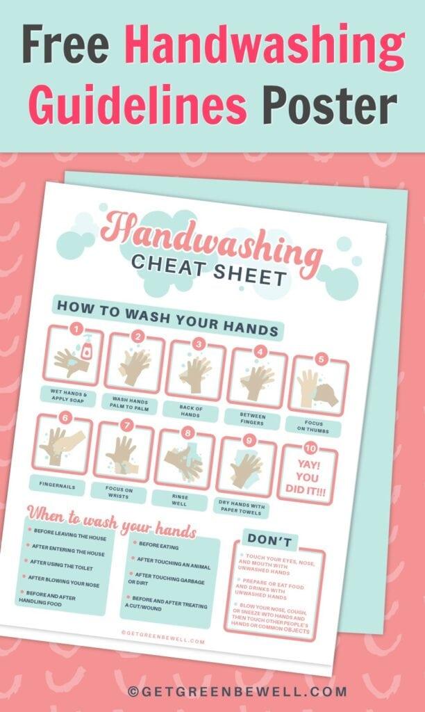 handwashing guidelines poster