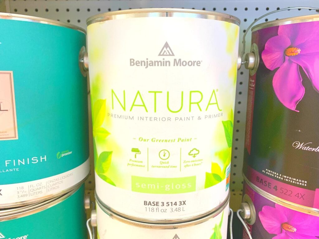 Benjamin Moore no voc paint can