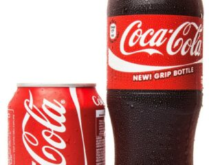 can and bottle of Coca Cola