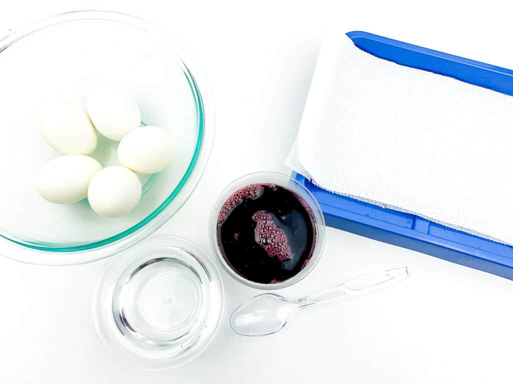 Blueberry Dyed Egg Step 6
