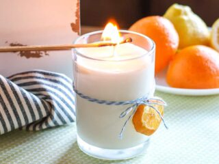 lighting a white candle