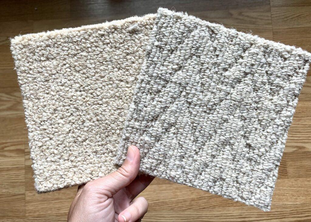 organic wool carpet samples