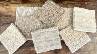 chemical free rug samples